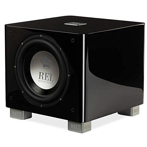REL Acoustics T/9x Subwoofer, 10 inch Front-Firing Driver, Arrow Wireless Port, High Gloss Black