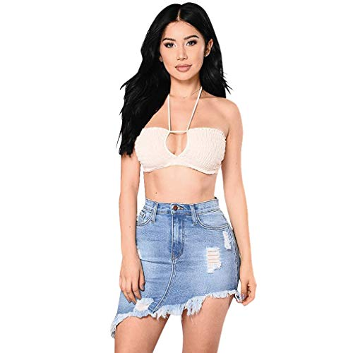 Learn More About Summer Sexy Denim Jeans Skirt for Women Hole Button Pocket Down Dress A-Line Short ...
