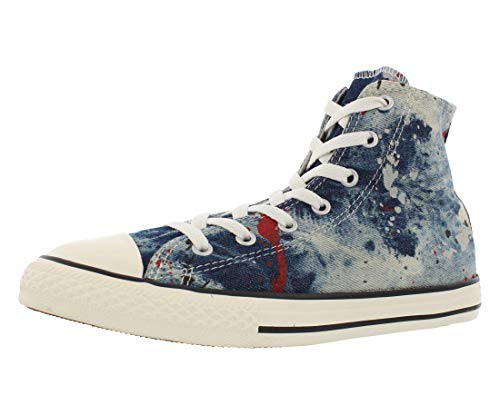 Converse Jr. Chuck Taylor All Star Print Hi Ash Grey/Casino Denim (5.5 US / 5 UK / 38 EU / 23.5 cm'.)