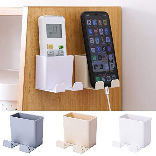 BESTEU Caja de Almacenamiento de Control Remoto Soporte para teléfono móvil montado en la Pared Caja del Organizador de Medios con Gancho