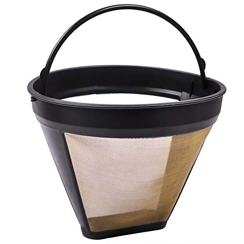 KEEPOW Reusable GTF-4 Gold Tone Filter for Cuisinart DCC-3200 DCC-1200 Machines and Brewers Coffeemakers