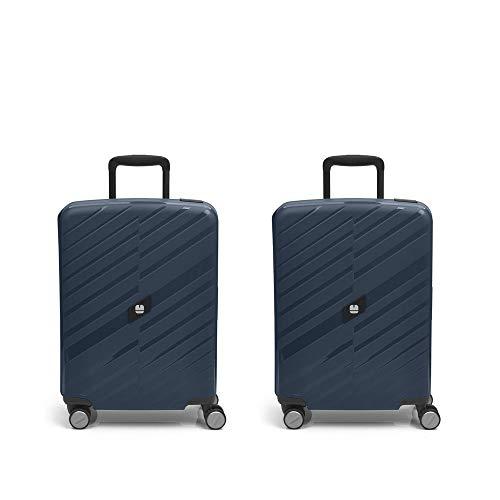 Gabol - Sendai | Set of Blue Rigid Travel Suitcases with 2 Cabin Luggages
