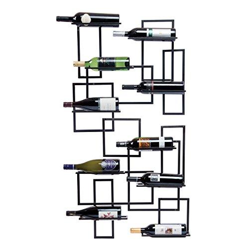 Oenophilia Mid Century Wall Mount Wine Rack - 10 Bottle