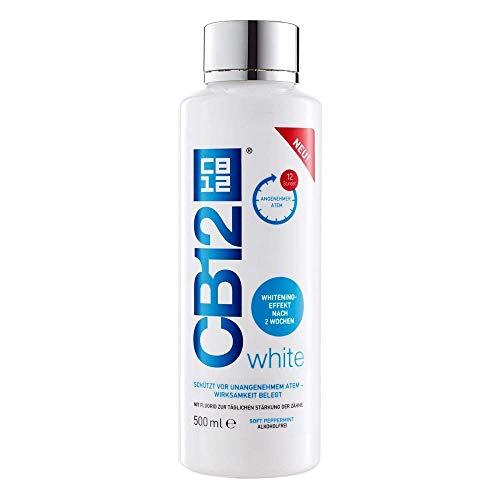CB12 White Mundspülung, bekämpft aktiv die Ursachen von Mundgeruch für 12 Stunden, 500 g