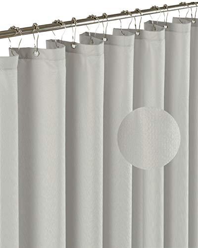 Barossa Design Mikrofaser-Duschvorhang-Einsatz Hotel Collection Style Silbergrau