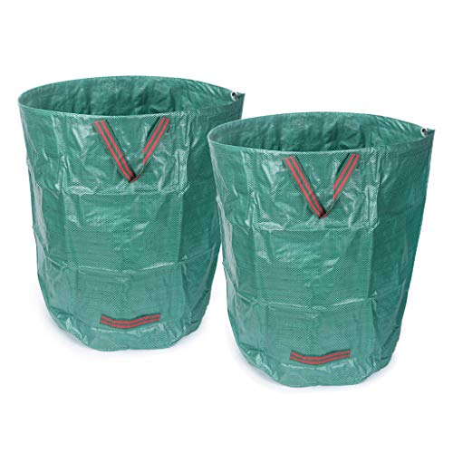 Great Features Of YICOL Collapsible Container Gardening Bag, 270L Yard Waste Bag Reusable Heavy Duty...
