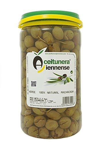 Aceituna Verde Machacada 100% Natural   Aceitunera Jiennense   2,3 kg (Peso neto )