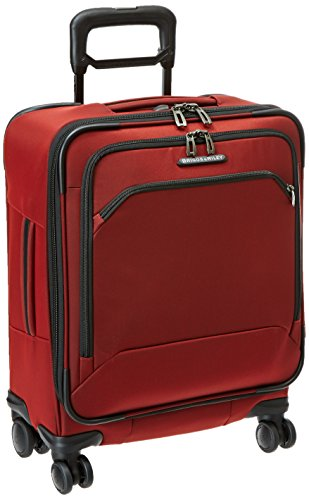 Save %21 Now! Briggs & Riley Transcend-Expandable Softside Wide-Body Carry-On Spinner Luggage, Crims...