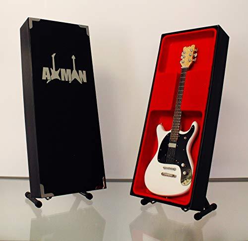 Johnny Ramone (Ramones): White Mosrite Ventures II – Miniatur-Gitarren-Nachbildung (UK-Verkäufer)