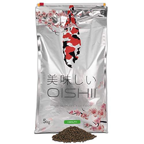 Oishii Koi Company Health • 5kg Premium Koifutter 4mm sinkend • Für alle Jahreszeiten geeignet • Frühjahr, Sommerfutter, Herbstfutter & Winterfutter