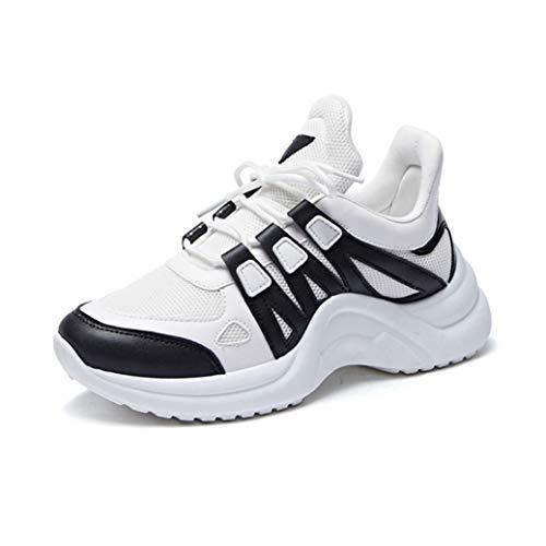 Zapatillas De Deporte para Mujer Verano De Malla Transpirable Moda Zapatos De Vulcanización Jogging Casual Zapatillas De Deporte con Cordones Zapatillas De Plataforma De Cesta Suave