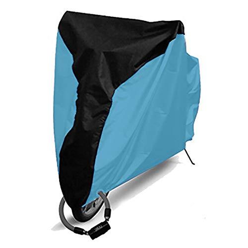 ORETG45 - Funda para bicicleta al aire libre, impermeable, 20/24/26 pulgadas, impermeable, antipolvo, lluvia, protección UV, para almacenamiento exterior, cubierta plegable para bicicleta, No nulo, Negro medio + azul claro, Small