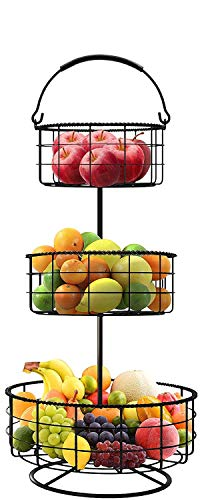 Sorbus 3-Tier Countertop Fruit Basket Holder & Decorative Bowl Stand — Perfect...