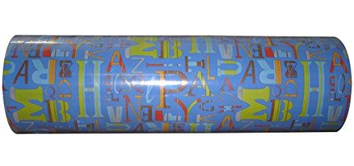 Woerner Geschenkpapier Grafia blau Rolle 250m x 50cm