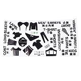 TOPBATHY 1 hoja de clasificación de ropa logotipo etiqueta de ropa interior...