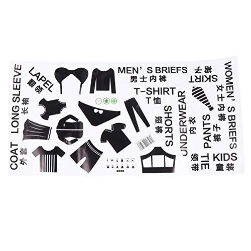 TOPBATHY 1 vel kleding classificatie Logo Ondergoed Label Opbergdoos Stickers Muurstickers voor binnen Slaapkamer Huis