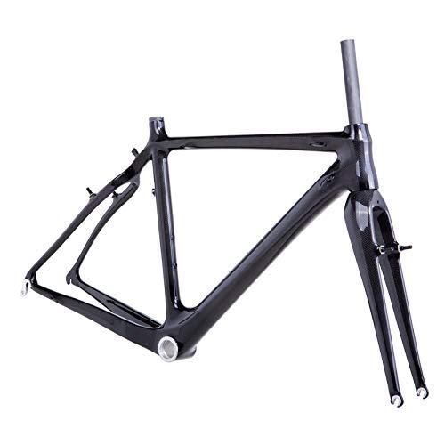 YAMEIJIA Cuadro de Bicicleta de ciclocross de Carbono con Freno en V