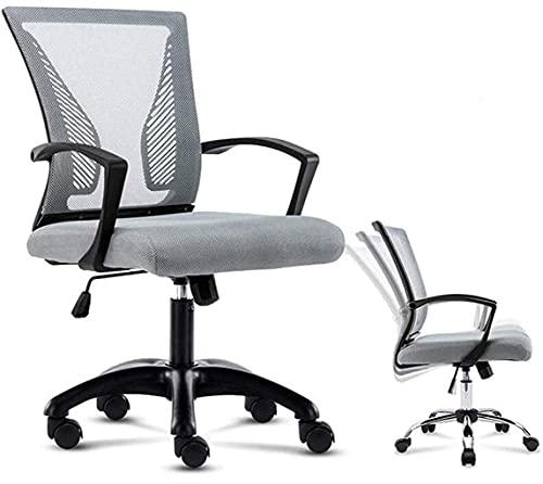 YAMMY Silla de Oficina Sillas de Escritorio de Oficina en casa Sillas para Juegos de computadora Diseño ergonómico Patas cómodas en Acero/Nailon (Silla para Juegos)