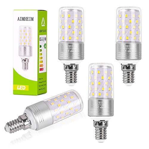 AIMHEIM E14 LED Lampe Maiskolben, 9W E14 Led Glühbirne ersetzt 80W Glühlampe, 950LM Maisbirne, Kaltweiß 6000K Kandelaber LED E14 Nicht Dimmbar, Kleine Edison-Schraube Kerze Leuchtmittel, 4er Pack