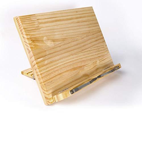 Porta libri di cucina Stand di lettura di libri Vassoio pieghevole Pagina Fermacarte Leggio portatile in legno per libri iPad Laptop Libro di testo