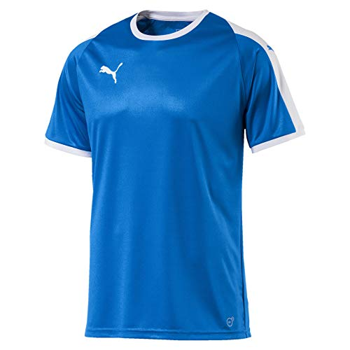 PUMA Herren Jersey Liga Trikot, Electric Blue Lemonade/White, Mittel