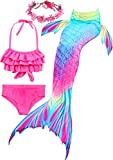 Girl's Mermaid Tail Swimsuit for Swimming Bikini Set Sea-Maid Princess...