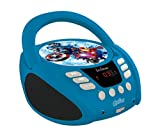 Lexibook Marvel The Avengers Iron Man CD player, Aux-in Jack, AC or Battery-Operated