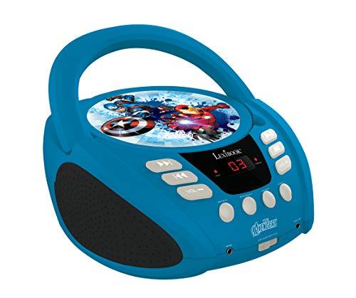 Lexibook Marvel The Avengers Iron ManBoombox CD-Player, AUX-Eingangsbuchse, AC-Betrieb oder Batterie,Blau/Schwarz, RCD108AV_10