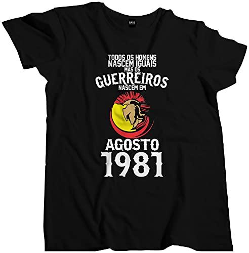 Camisa Homens Guerreiros Nascem Agosto 1981 Data 010