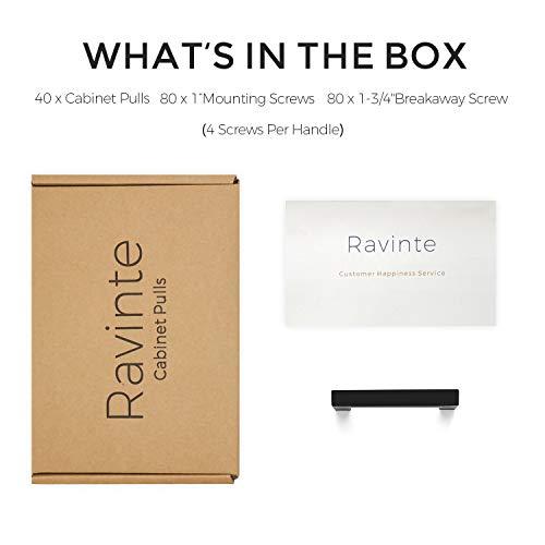 Ravinte 40 Pack 3 Inch Kitchen Square Cabinet Handles Matte Black Cabinet Pulls Black Drawer Pulls Kitchen Cabinet Hardware Kitchen Handles