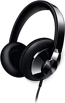 Philips Audio SHP6000/10 Hi-Fi Stereo Over Ear Headphones Black Semi-Open Acoustics 40mm Drivers Sound Isolation Full Cushioned Headband