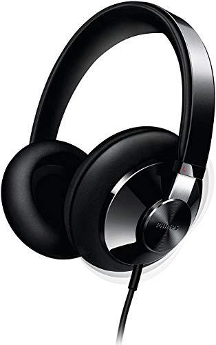 Philips SHP6000/10 Hi-Fi Over-Ear Headphones (400 mm Drivers, Foam Floating Cushions) - Black