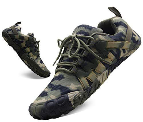 Womens Road Running Shoes Wide Cross Training Size 10 Zero Drop Gym Treadmill Female Antislip Toes Workout Bike Minimalist Barefoot Sneakers Camouflage US Size 10