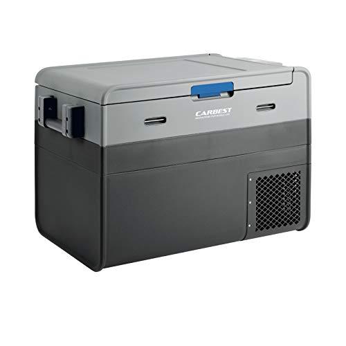 Carbest Kompressor Kühlbox   45 LTR   12/24 V   230 V Adapter   -18 °C   Batterieschutz