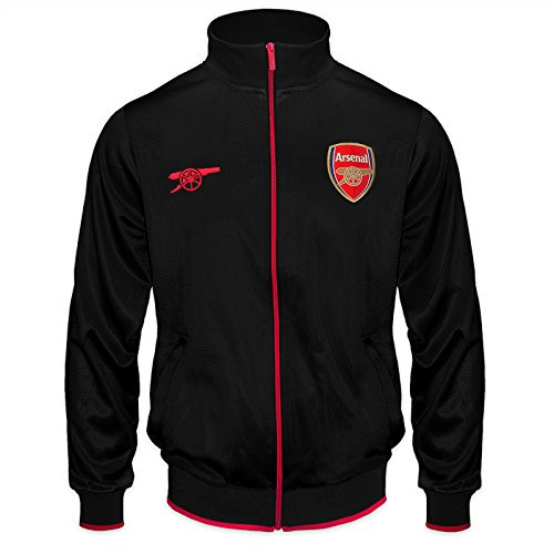 Arsenal FC Official Soccer Gift Mens Retro Track Top Jacket Black XL