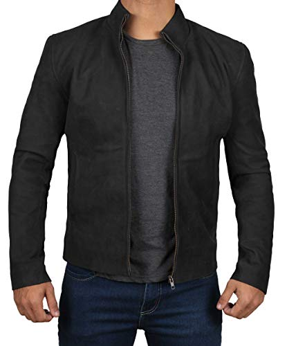 Decrum Black Suede Leather Jacket - Swedish B2 Bomber Jacket | [1100342] James, S