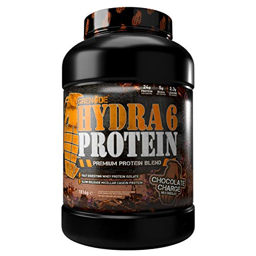 Grenade Hydra 6 Protein Powder (Whey Protein Isolate/ Micellar Casein) 52 Servings, 1.816 KG - Chocolate Charge