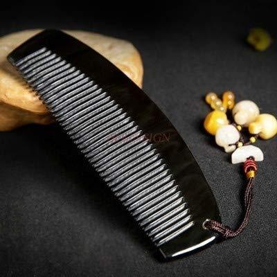 Peine natural puro cuerno peine masaje peines de madera natural del cabello...
