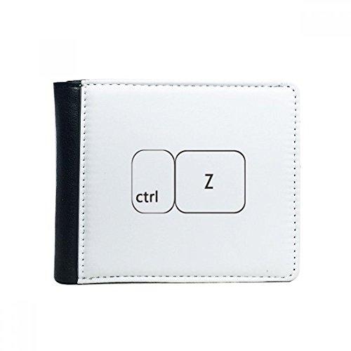 Toetsenbord Symbool Windows ctrl Z Flip Bifold Faux Lederen Portemonnee Multi-Functie Kaartportemonnee Gift