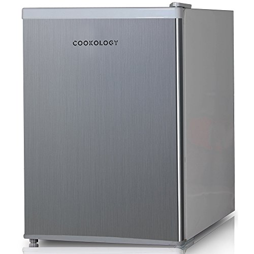Cookology MFR67SS 67 Litre Tabletop Mini Fridge & Ice Box in Stainless Steel Look