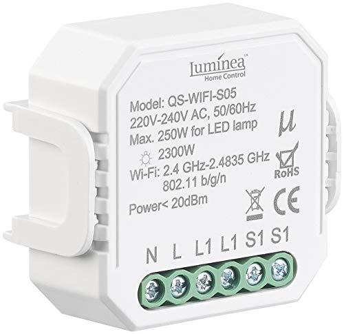 Luminea Home Control WLAN-Schalter Alexa: WLAN-Unterputz-Lichtschalter, App, für Siri, Alexa & Google Assistant (WLAN-Schalter für 230 Volt)