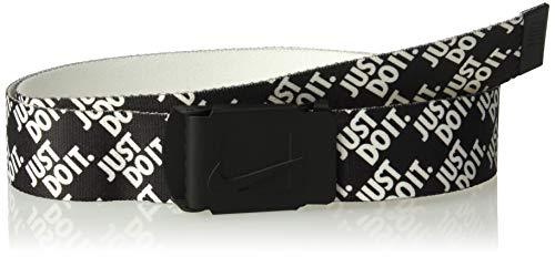 Nike Herren Just Do It Reversible Web Gürtel, Schwarz gestapelt, Einheitsgröße