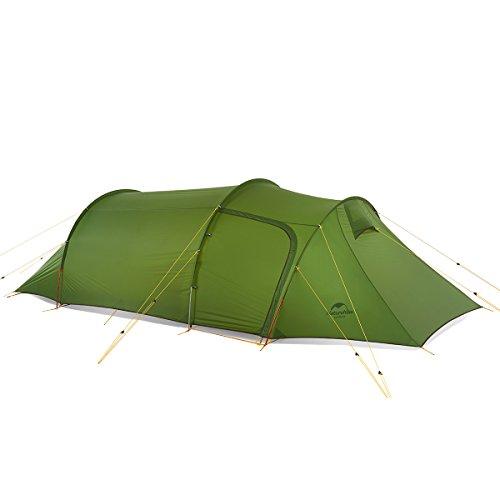 Naturehike ultraleichte opalus Tunnel - Zelt für 3 Personen 20d / 210t Stoff Camping Zelt NH17L001-L mit gratis - fußabdruck
