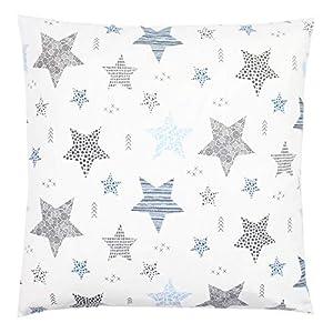 TupTam Funda para Cojin con Diseño Decorativo para Niños, Estrellas Azul/Negro, 40 x 60 cm