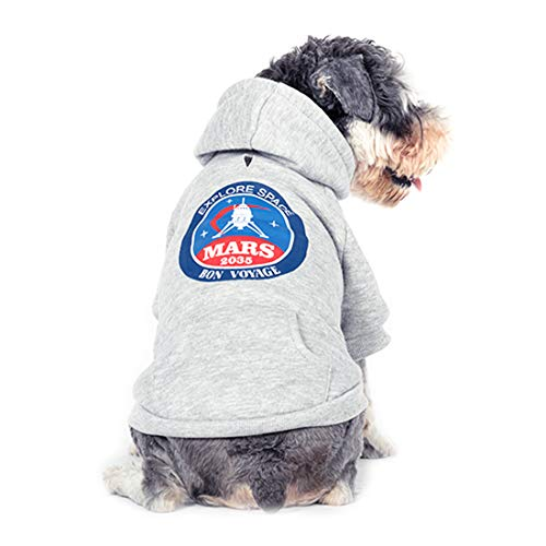 kyeese Dog Hoodies Sweater with Harness Hole Thicken Pet Cold Weather Coats for Fall Winter