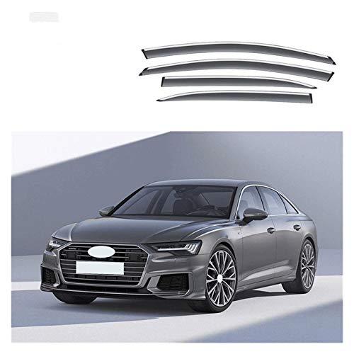 JHDS Ventanillas Viento y Lluvia para Audi A6 C6 C7 C7.5 C8 2004-2020 Visera De Ventana Coche Protector De Lluvia Deflectores Toldo Cubierta Exterior Coche Deflectores Viento