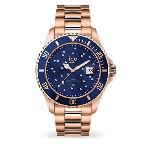 ICE-WATCH Ice Steel Blue Cosmos Rose-Gold - Reloj Rosa Oro para Mujer con Correa de Metal, 016774 (Medium)