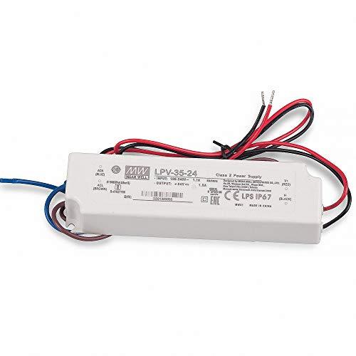MeanWell, LPV-35-24 - Alimentatore LED da 36 W, 24 V, 1,5 A