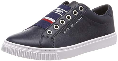 Tommy Hilfiger Damen Tommy Elastic City Sneaker, Blau (Midnight 403), 41 EU