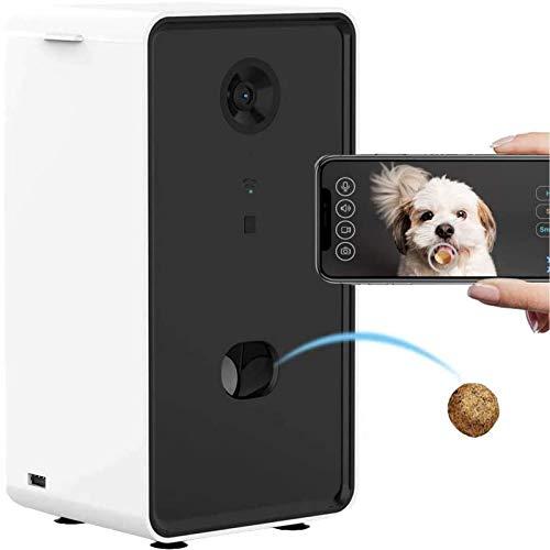 Hundekamera Treat Dispenser, Tiernahrung Mit Zwei-Wege-Audio, WiFi, Treat Tossing, 720P Kamera Und Nachtsicht, Kompatibel Mit Alexa